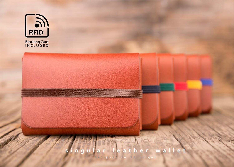 SINGULAR LEATHER™ Wallet - color: COGNAC