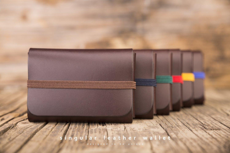 SINGULAR LEATHER WALLET - color: BROWN