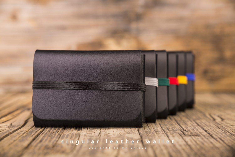 SINGULAR LEATHER WALLET - color: BLACK