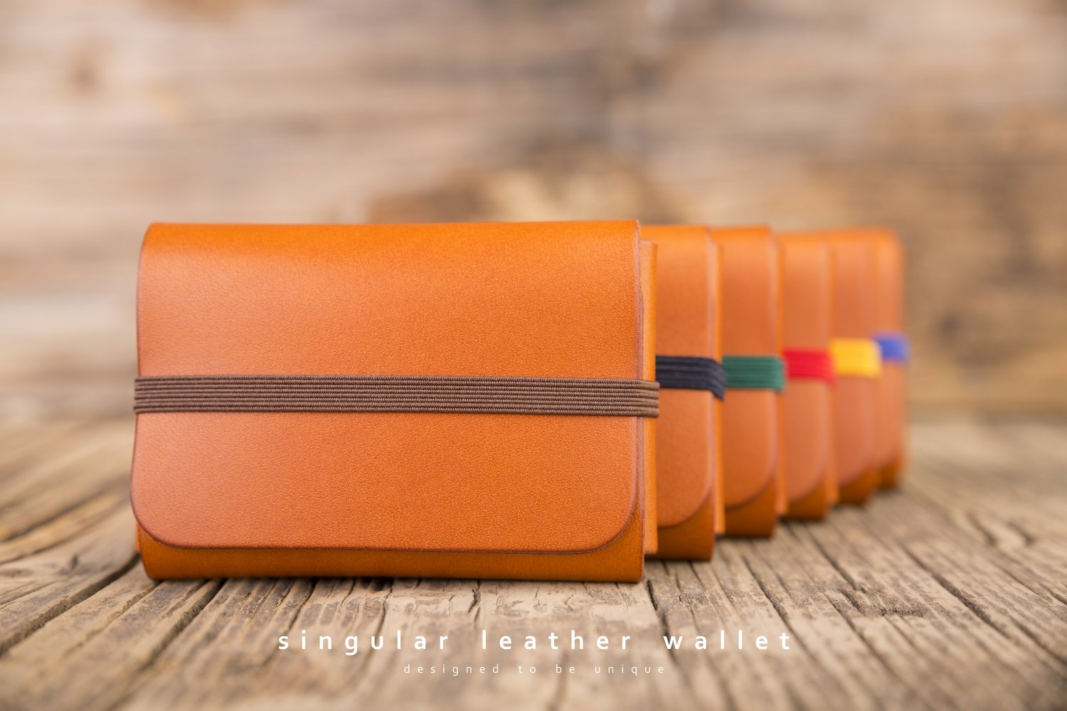 SINGULAR LEATHER WALLET - color: TAN