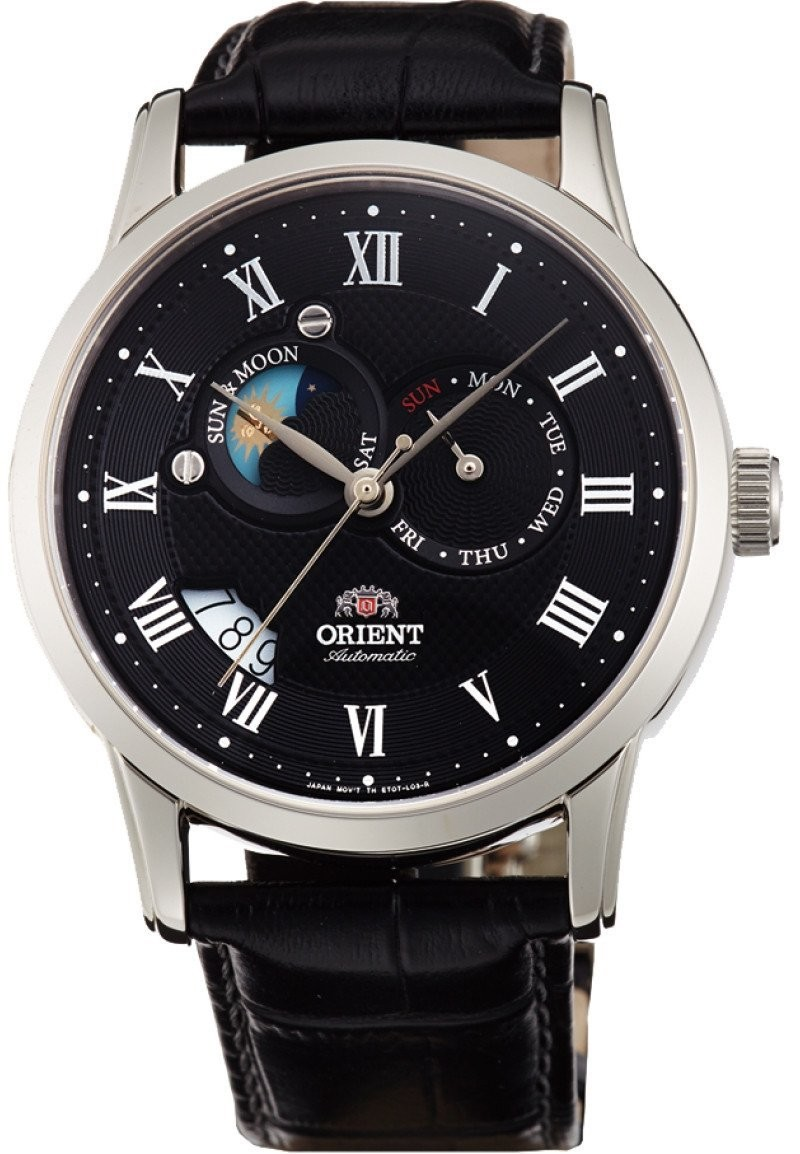Reloj Orient  automático FET0T002B Executive Sun and Moon