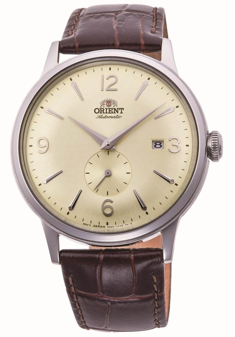 Reloj hombre automático Orient Bambino RA-AP0003S beige correa cuero