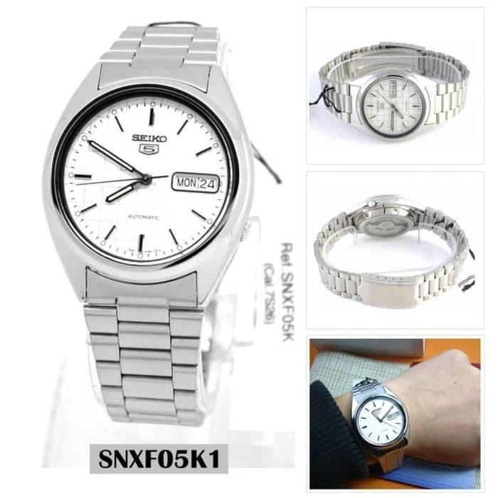 d6e63c28e682 Reloj hombre automático Seiko SNXF05K1 Seiko 5 clásico acero 21 joyas