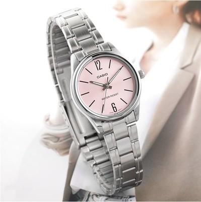 Reloj analogico dial rosa CASIO ltp-v005d-4bu