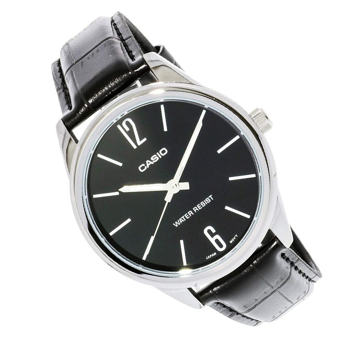 Reloj analogico correa de piel MTP-V005L-1B