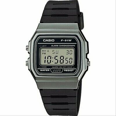 Reloj retro CASIO F-91WM-1BD 100% original