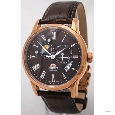 Reloj Automático Hombre Orient Sun & Moon FAK00003T correa cuero