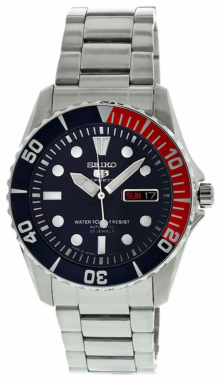 Reloj Automático Hombre Seiko 5 Sports SNZF15J1 Pepsi acero buceo