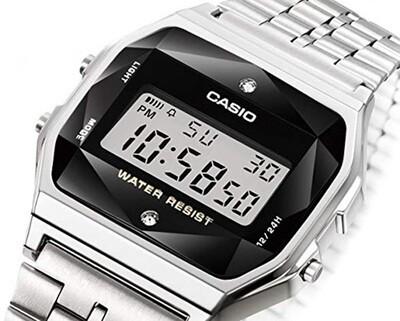Reloj CASIO Vintage A159WAD-1D DIAMONDS Acero Inoxidable edicion diamonds