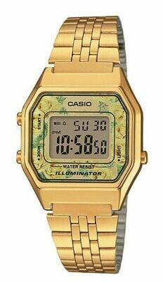 Reloj Casio retro digital La680wega-9c vintage gold