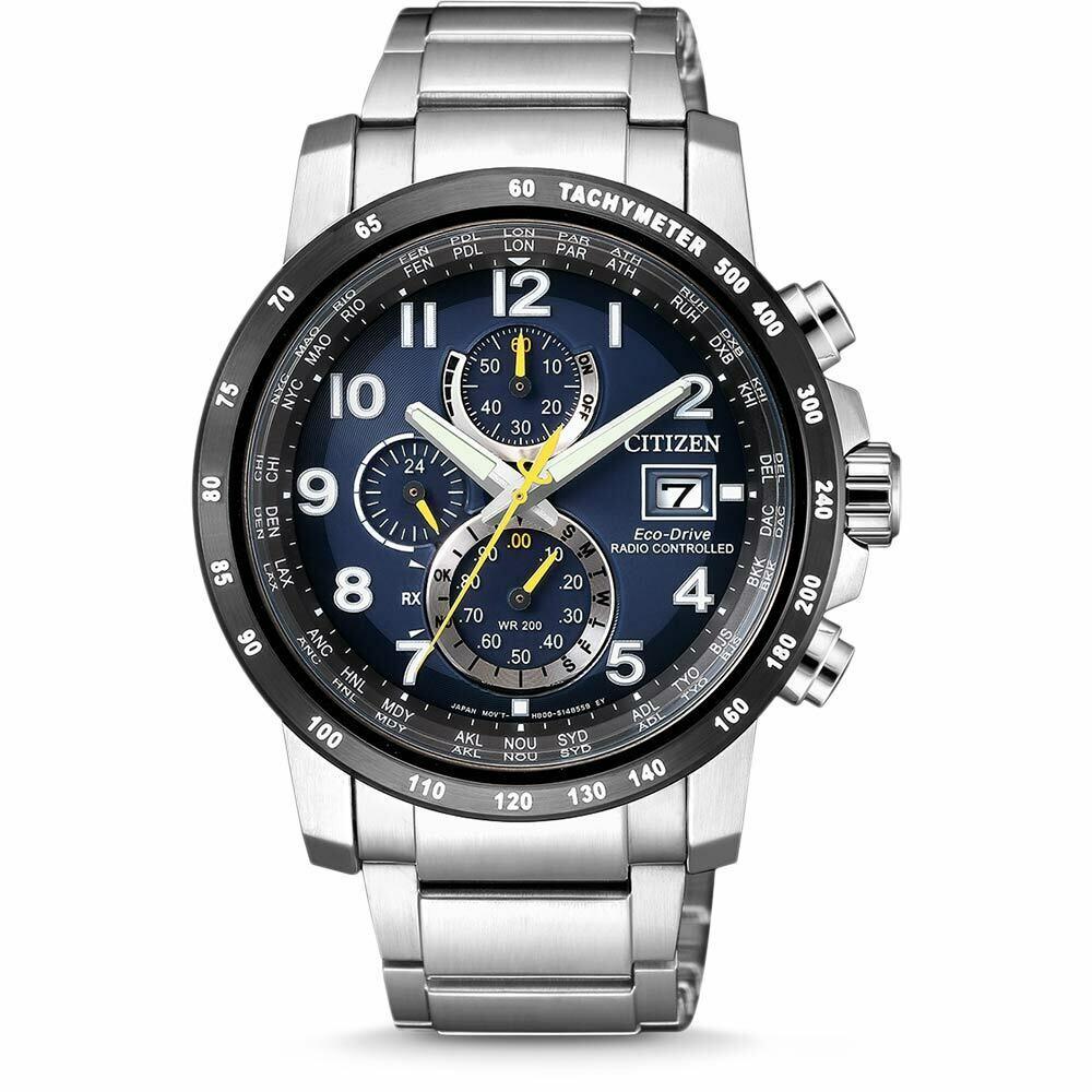 Reloj Hombre Citizen Men's Eco-Drive AT8124-83M Radio Controlled Chronograph 43.5mm Watch