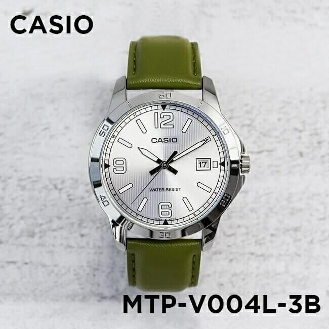 Reloj analogico Casio MTP-V004L-3b correa militar verde