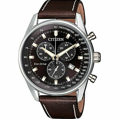 Reloj Hombre Citizen Eco-Drive AT2396-27X Men Brown Dial 40 mm Watch