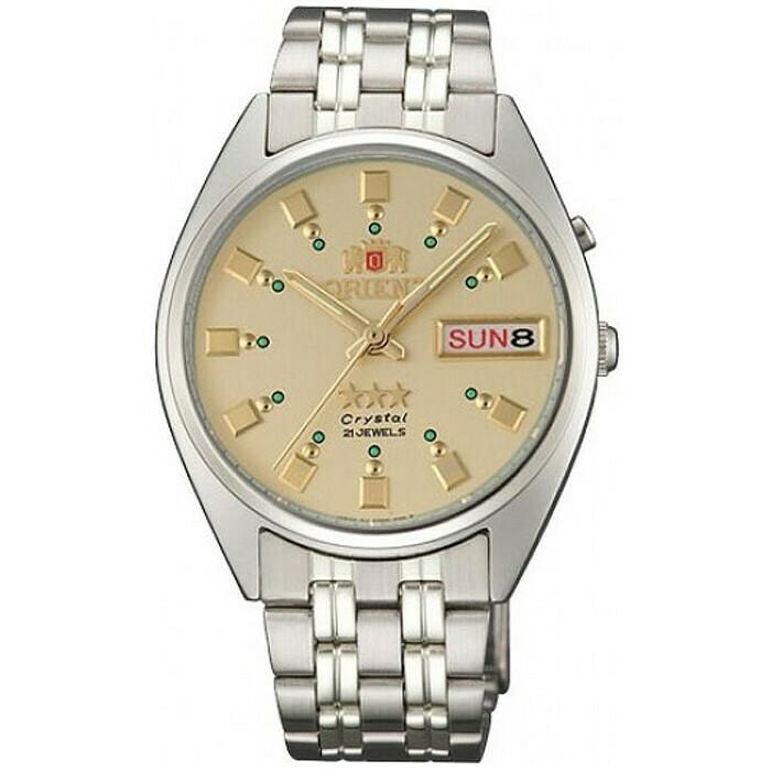 Reloj Automático Hombre Orient Tristar FAB00009C correa acero