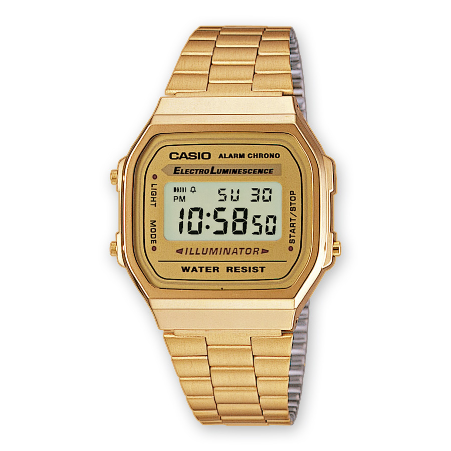 Reloj casio collection a168wg-9ef retro cronografo