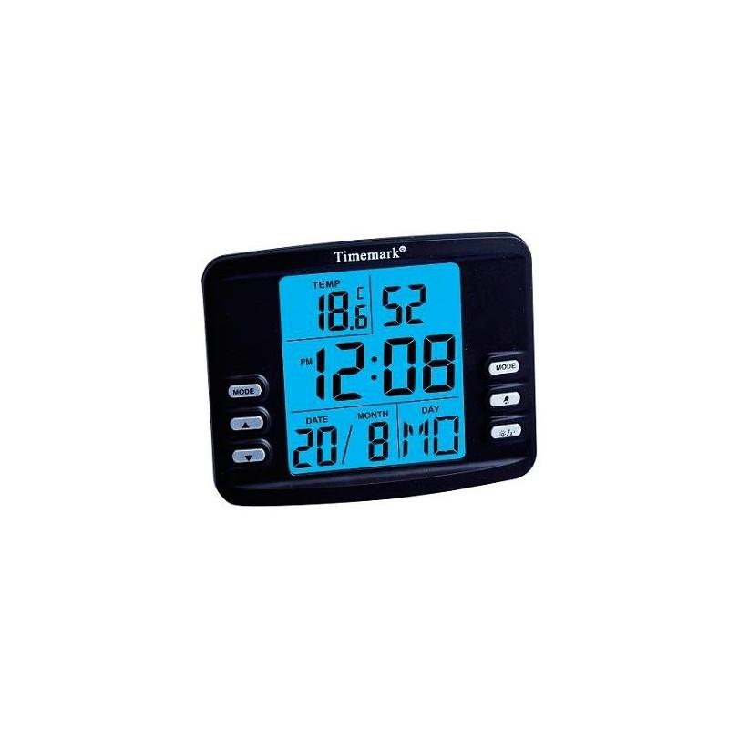 Reloj Digital Con Alarma Y Termómetro Timemark CL98 NEGRO