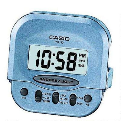 Reloj despertador digital casio PQ-30-2EF MINI Color celeste