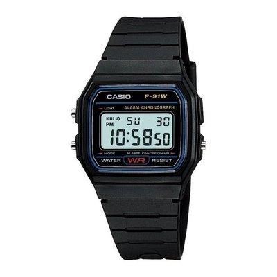 Reloj digital  Casio f91w retro - alarma (Original)