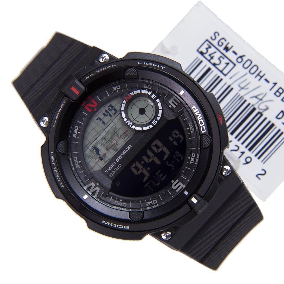 Reloj hombre Casio SGW-600H-1B Twin Sensor Brújula Termómetro