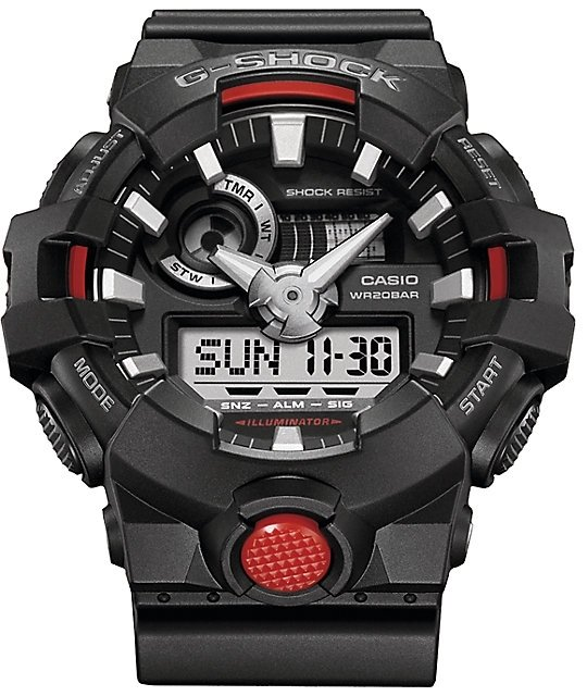 Reloj hombre CASIO G-SHOCK GA-700-1ACR Hora Mundial