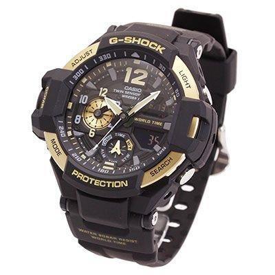 Reloj hombre Casio Gravity Master G-Shock GA-1100-9G Hora Mundial Twin Sensor Brújula