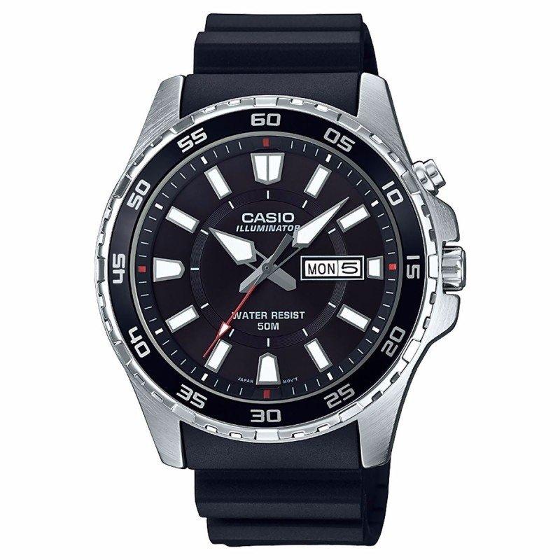 Reloj hombre Casio MTD-110-1AV SUPER ILUMINATOR correa caucho