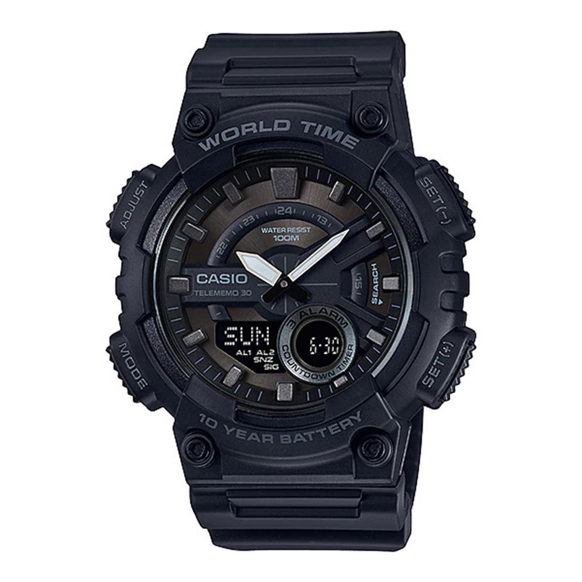 reloj hombre Casio aeq-110w-1b cronógrafo deportivo