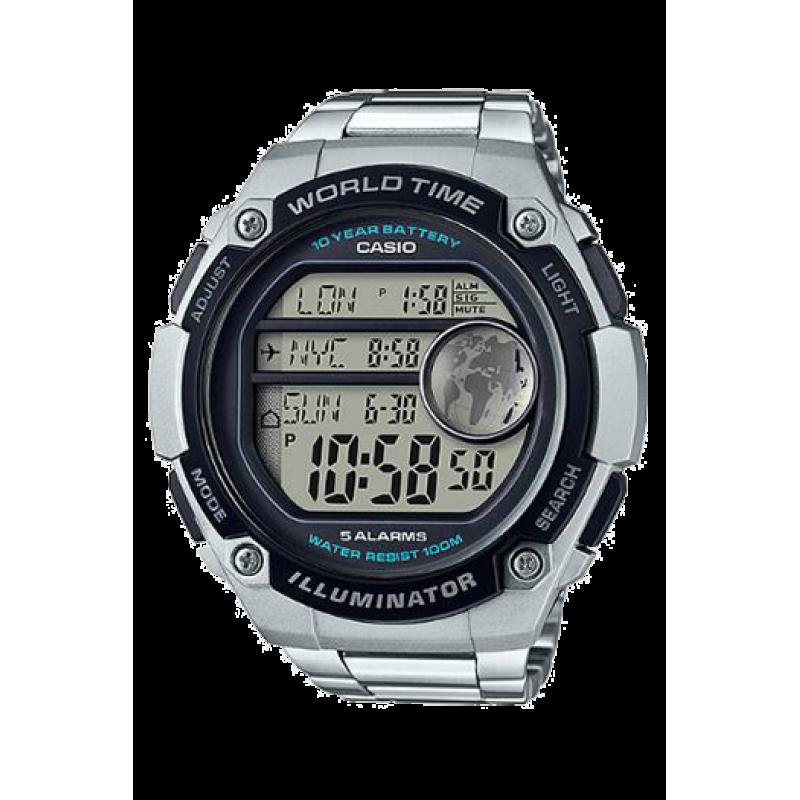 Watch  Casio AE-3000WD-1A hora mundial - 10 años batería - 3 horas simultáneas