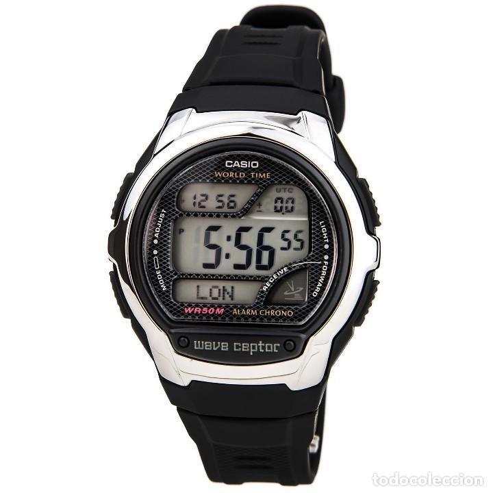 Reloj hombre radiocontrol Casio wv-58a-1a correa caucho