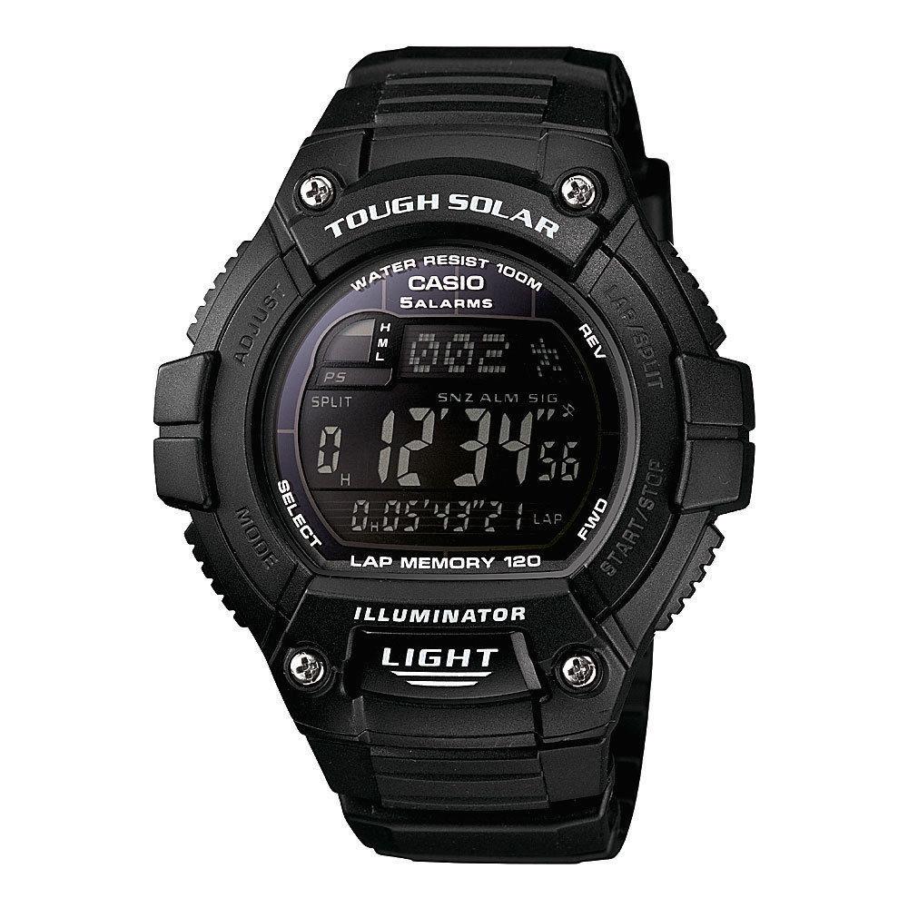 Reloj hombre solar CASIO WS-220-1B Hora Mundial - 120 lap memory
