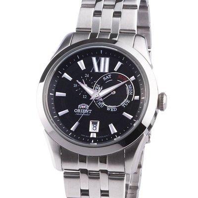 Reloj hombre automático ORIENT FET0X004B dial negro - calendario - acero inoxidable