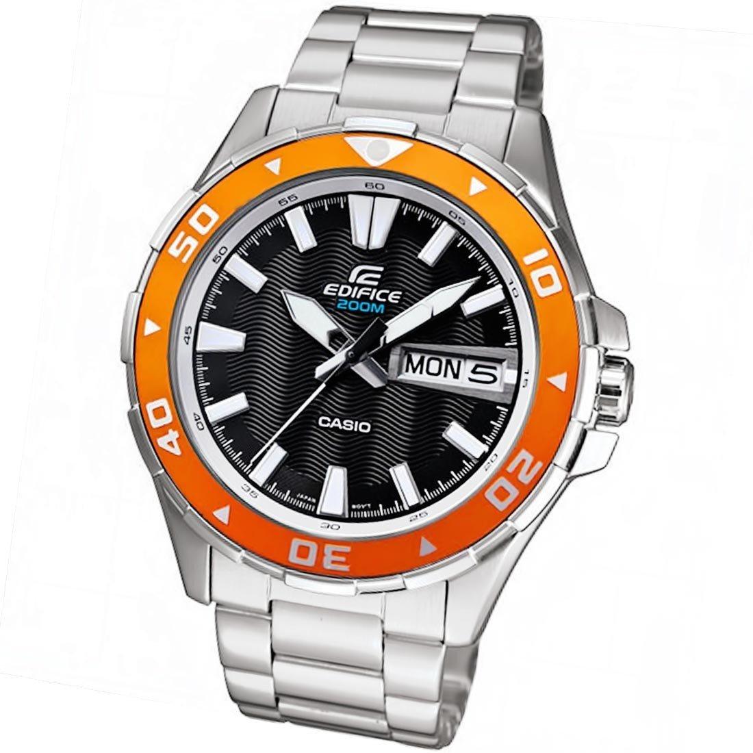 reloj hombre Casio Edifice Marine Men's EFM-100D-1A4 Quartz Rotating Bezel Black Dial Watch