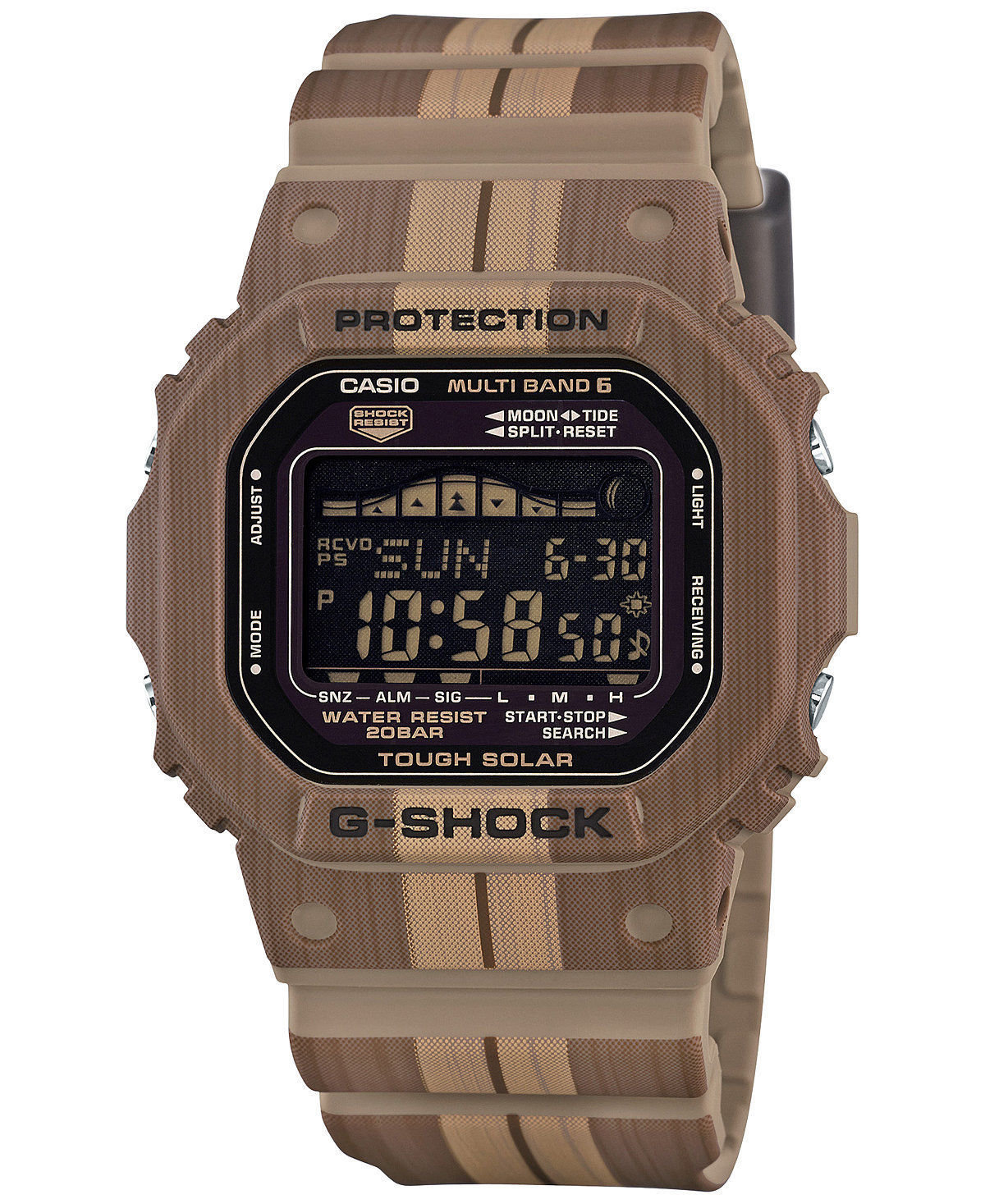 Reloj hombre solar RADIOCONTROL Casio G-Shock GWX-5600WB-5 Tough Solar Multifunction Brown/Tan Resin Watch