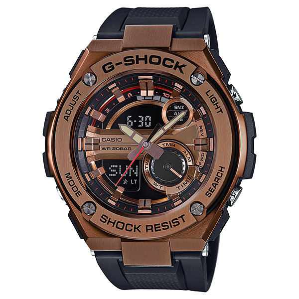 Reloj hombre Casio G-SHOCK Men's G-Steel GST210B-4A Super Illuminator Quartz Rose Gold