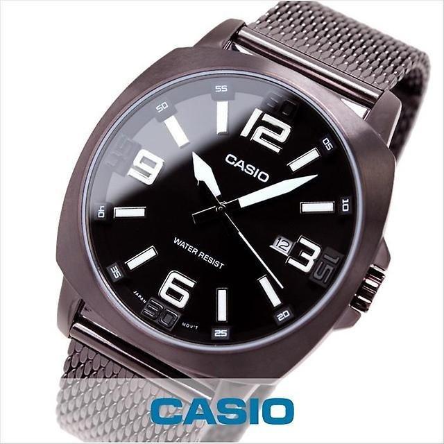Reloj hombre Casio MTP-1350DD-5A correa acero chocolate