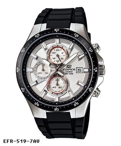 reloj hombre Casio Edifice Men's EFR-519-7AV Quartz Chronograph Resin Strap 42mm Watch