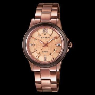 reloj mujer Casio Sheen SHE4512BR-9A oro rosado
