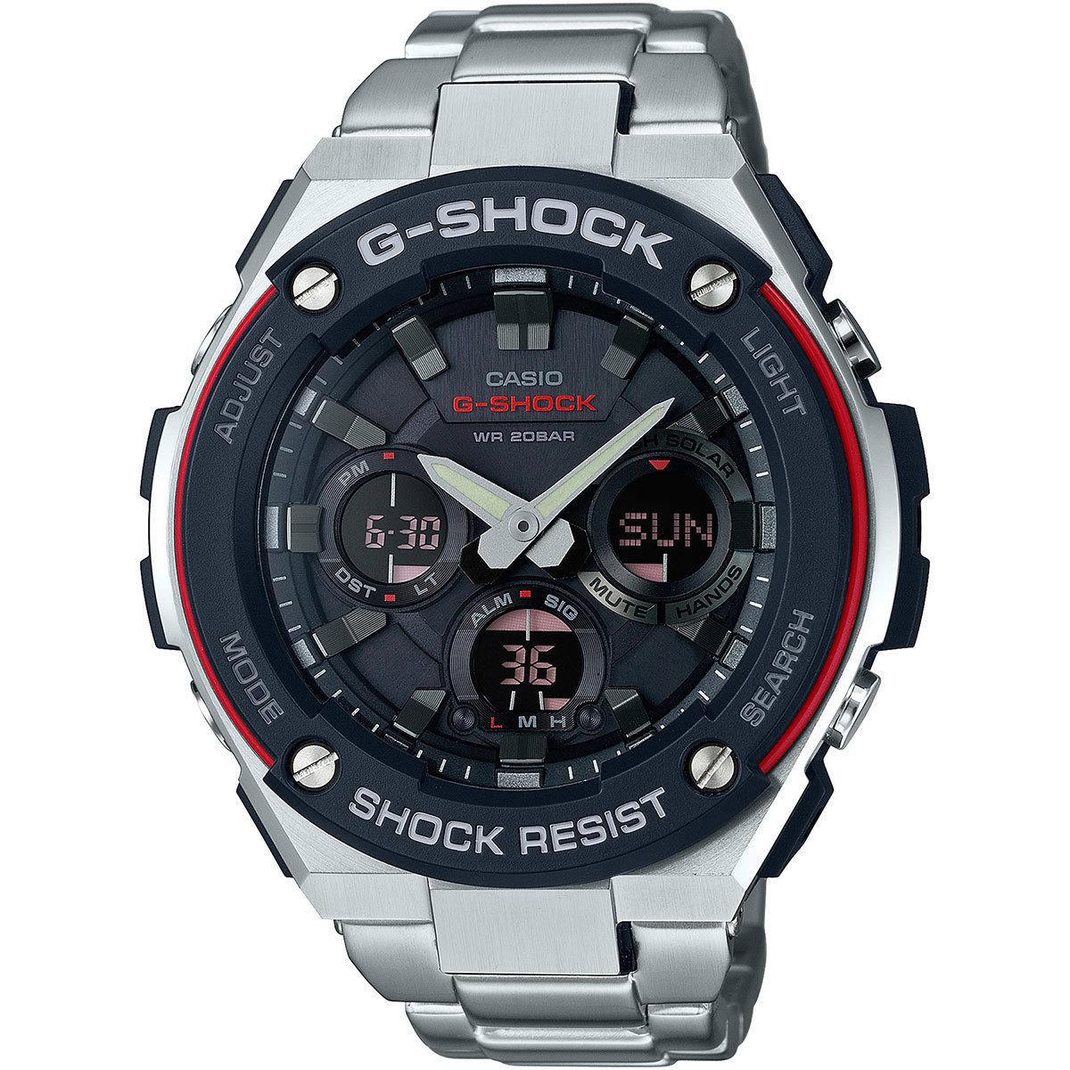 reloj hombre Casio G-SHOCK G-Steel Men's GSTS100D-1A4 Tough Solar Super Illuminator