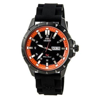 reloj hombre Orient Sports FUG1X009B correa caucho esfera naranja