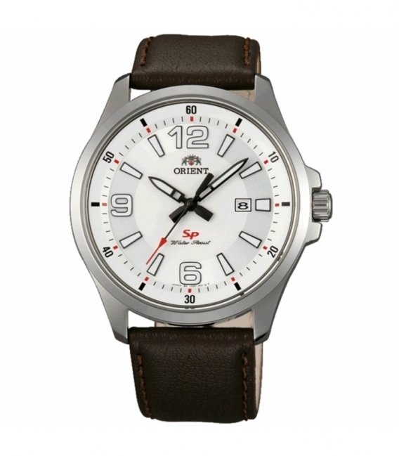 reloj hombre Orient Sports FUNE1007W esfera blanca correa cuero fecha