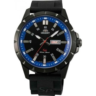 reloj hombre Orient Sports FUG1X008B correa caucho esfera azul