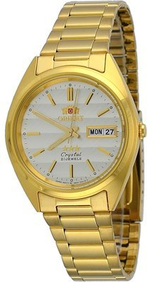 Reloj automático Orient 3 Star FAB0000BC GOLD Dial Stainless Steel Band