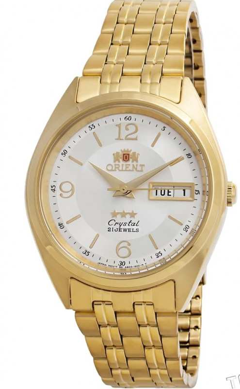 Reloj automático Orient 3 Star FAB0000CW Dial blanco correa acero