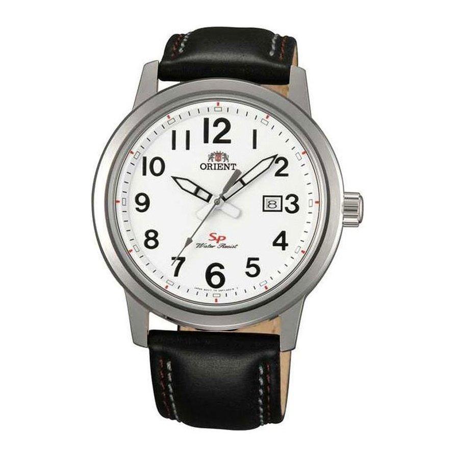 reloj hombre Orient FUNF1008W esfera blanca correa cuero cuarzo