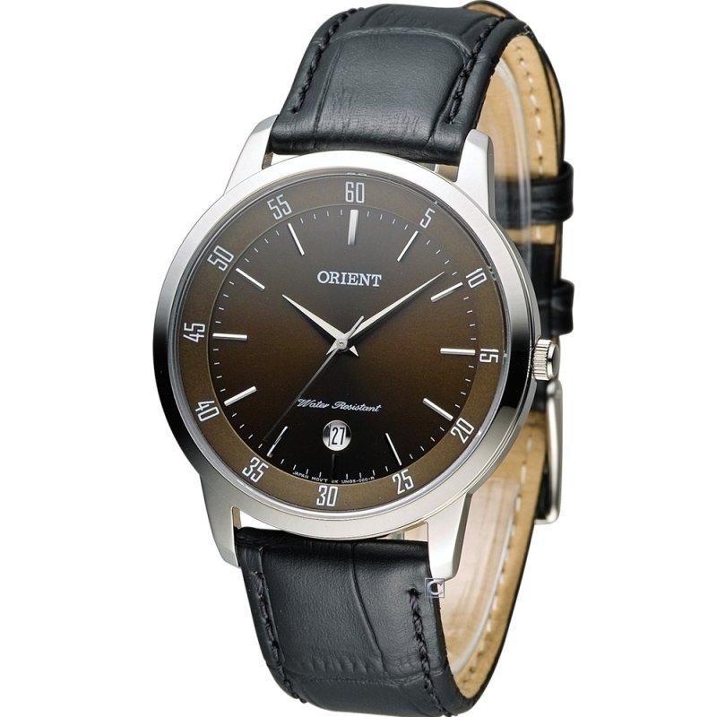 Reloj hombre Orient FUNG5003T esfera marrón correa cuero cuarzo