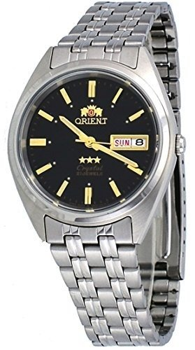 Reloj automático Orient 3 Star FAB0000DB BLACK Dial Stainless Steel Band