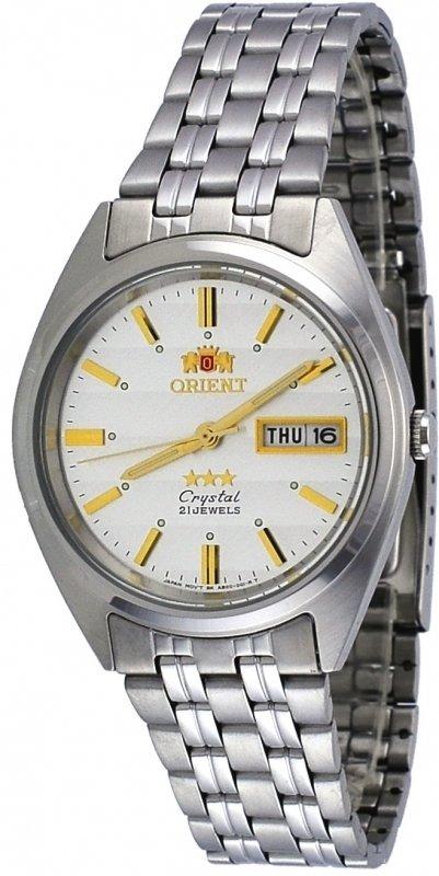 Reloj automático Orient 3 Star ORIENT FAB0000DW Dial blanco correa acero