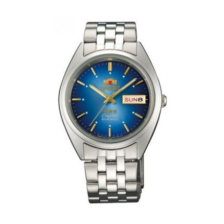 Reloj automático Orient 3 Star FAB0000AL BLUE Dial Stainless Steel Band