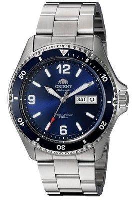Reloj hombre automático Orient Mako II FAA02002D azul correa acero