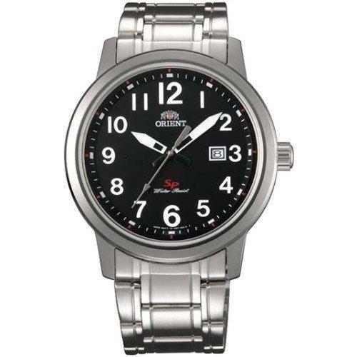 reloj hombre Orient FUNF1003B correa acero dial negro